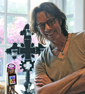 Musician Rick Springfield with Tyent UCE-11